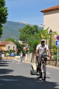 Rückfahrt nach dem Rennen in Bédoin/Mt Ventoux