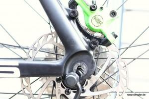 An einer Aufnahme wie dieser können wir erkennen, welche Drehmomentstütze bei Ihrem Rad passt
