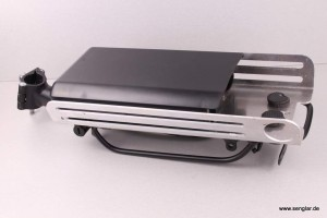 Anwendungsbeispiel für unseren Alu-Adapter zur Aufnahme des Gepäckträgerakkus