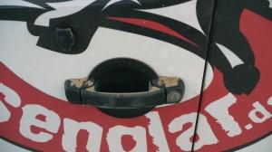 Das Senglarmobil mit Sandstaub