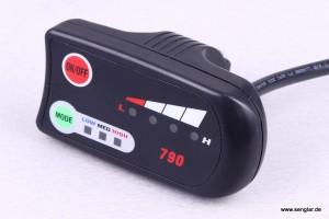 Das aktuelle LED-Display von Senglar