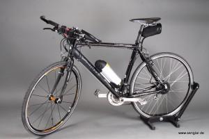 Ein schönes 28 Zoll-Rad wurde mit dem Senglarantrieb zum superleichten Pedelec mit nur 16,8kg!