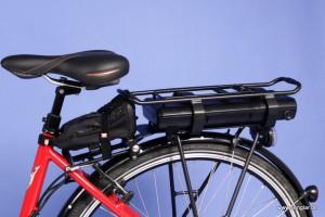 Ganz einfach: Gepäckträger mit Akkuaufnahme, Controller in der Satteltasche