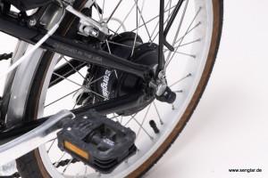 Perfekte Paarung: Kleiner und starker Motor in sehr kleinem Fahrrad