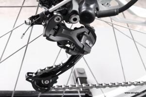 Auch hier kommt bewährte Qualität zum Einsatz: Das Shimano SLX-Schaltwerk