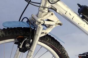 Alt trifft Neu: Aktuelle Magura HS11-Bremse und alte AMP-Gabel