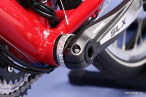 Hochwertig und leicht: Die Shimano SLX-Tretkurbel