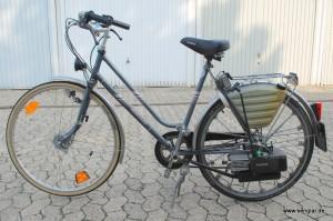 Die Saxonette im Originalzustand mit Benzinmotor