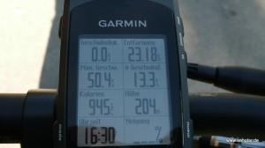 ...und mit dem GPS werden die Streckendaten aufgezeichnet