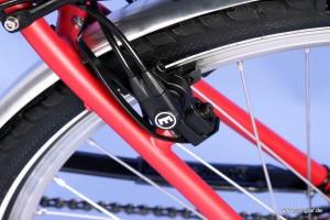 Das Senglar e-Bike City hat hydraulische Felgenbremsen, Magura HS11