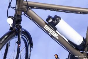 Das Senglar-Pedelec Trekking mit LED-Scheinwerfer und hochwertigen Schutzblechen