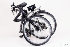 e-Bike Klapprad mit Senglar-Umbausatz: das Dahon bleibt klappbar