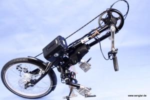 Das fertige Gesamtkunstwerk: Der Senglar-Umbausatz im Handbike