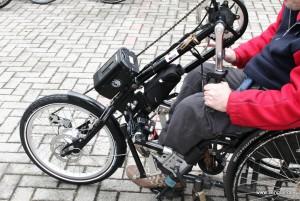 Der Senglar-Umbausatz fürs Handbike: Viel Technik-wenig Platz!