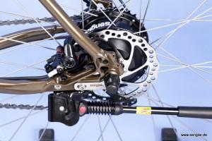 Die Kraftquelle: Der leichte und bewährte Senglarantrieb im Hinterrad