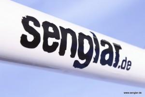 Hier in Weiß: Das Senglar-Tandem als Pedelec