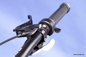 Jederzeit alles im Griff: Magura-Bremse und Shimano-Schaltung