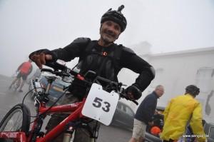Fahrer und Fahrrad haben es auf den Mont Ventoux geschafft