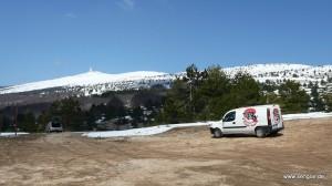 Der Mont Ventoux bei der Vortour im April