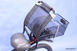 Sehr speziell und in jedem Fall bequem: Der Sitz des Scooterbike
