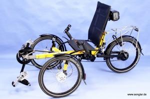 Das AnthroTech-Trike: Nun mit dem Senglarantrieb zum Pedelec geworden