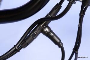 Hier ist das Abschaltventil für hydraulische Bremsen zu sehen