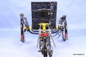 Das AnthroTech-Trike: Die Batterie hat einen besonderen Platz am Fahrersitz gefunden