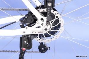 Klein und leistungsstark: Der Senglarantrieb im Hinterrad