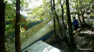 Das 1986 abgestürzte Flugzeug ist noch gut erhalten