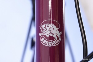 Das Senglar-Logo auf Lila: Sieht gut aus!
