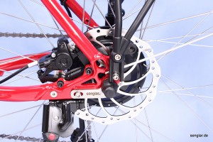 Wie immer bei Senglar: Die leichte treibende Kraft im Hinterrad