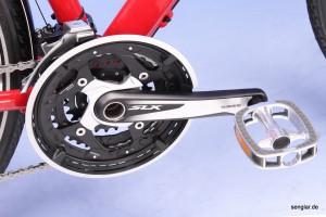 Schön und leicht: Der Shimano SLX-Kurbelsatz