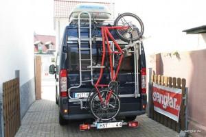 So geht´s: Das Senglar-Pedelec als Tandem in der Transportlage