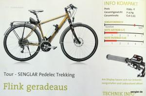 So erscheint unser Senglar-Pedelec in der Zeitschrift