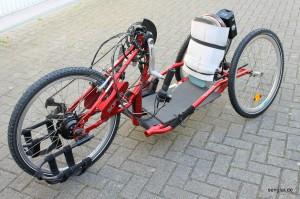 Hier das von Senglar umgebaute Sopur-Handbike