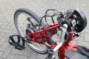 Eine besondere Herausforderung sind bei Handbikes immer die Platzverhältnisse
