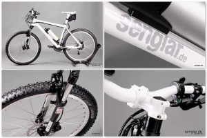 Senglar Pedelec Mountainbike 26er, Weiß glänzend