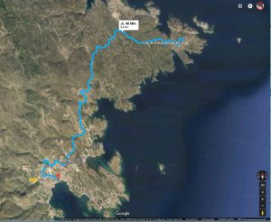 So sieht die Strecke bei Google-Maps aus