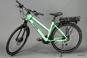 Das erste Rad des Jahres: Senglar-Pedelec Trekking Lady in Leuchtgrün